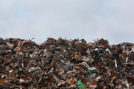 Ein Berg von Müll